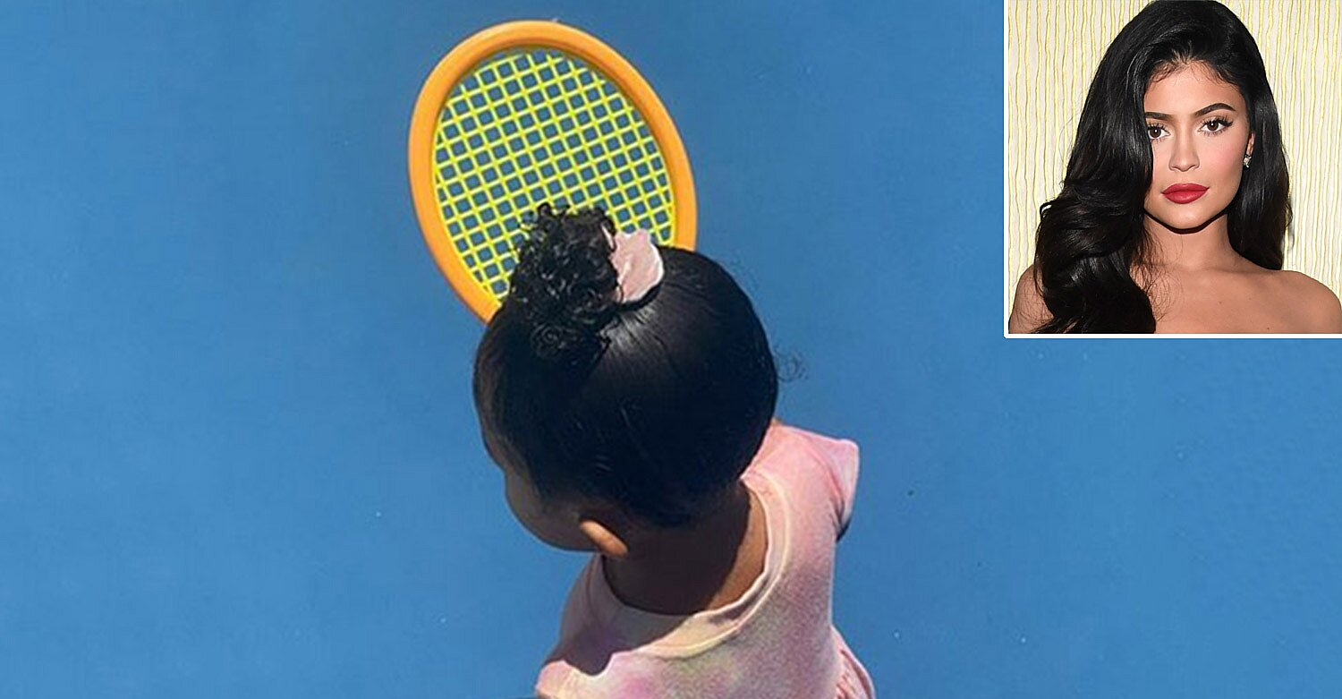 Kylie Jenner Shares Sweet Photo of Daughter Stormi Playing with a Racket on Tennis Court