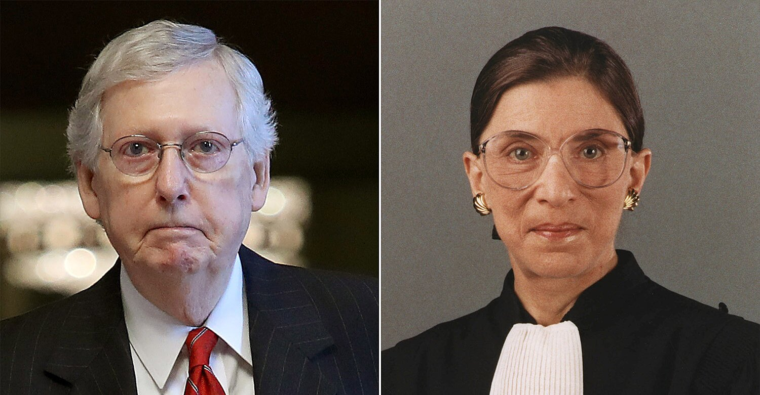 Mitch McConnell Pledges Senate Vote on Ruth Bader Ginsburg's Replacement Just Hours After Her Death