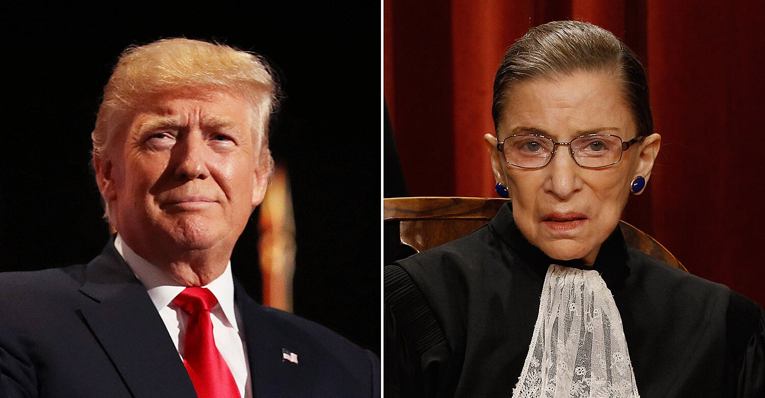 Trump Says Ruth Bader Ginsburg Was 'an Amazing Woman' After Being Told by Reporters of Her Death