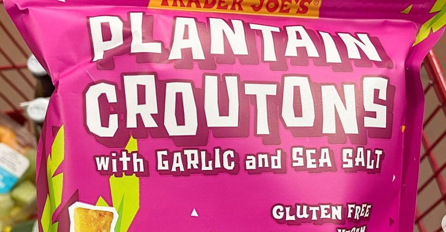 Plantain Croutons Have Arrived at Trader Joe's to Upgrade Your Salad