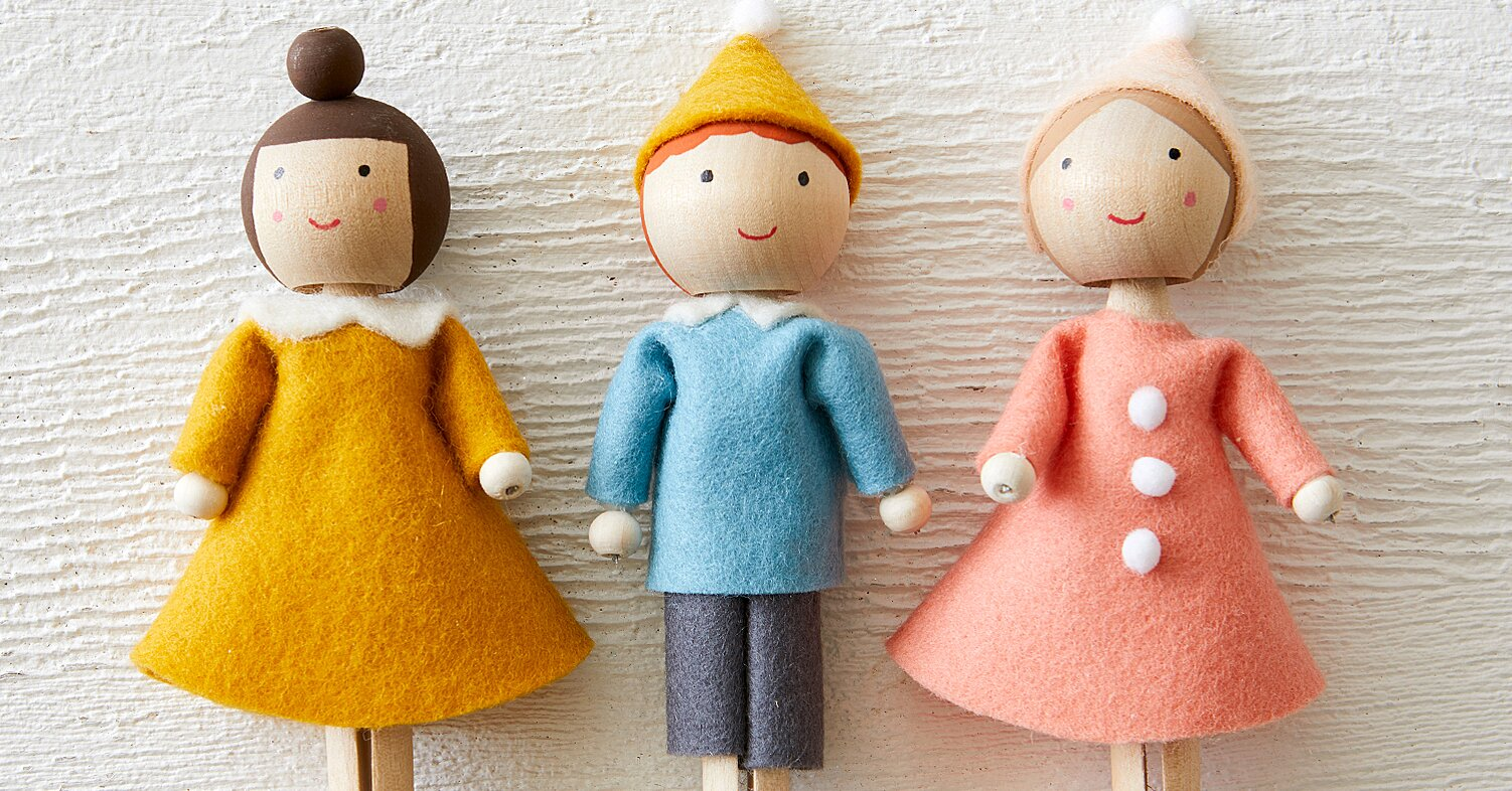 Clothespin Doll Ornaments Better Homes Gardens