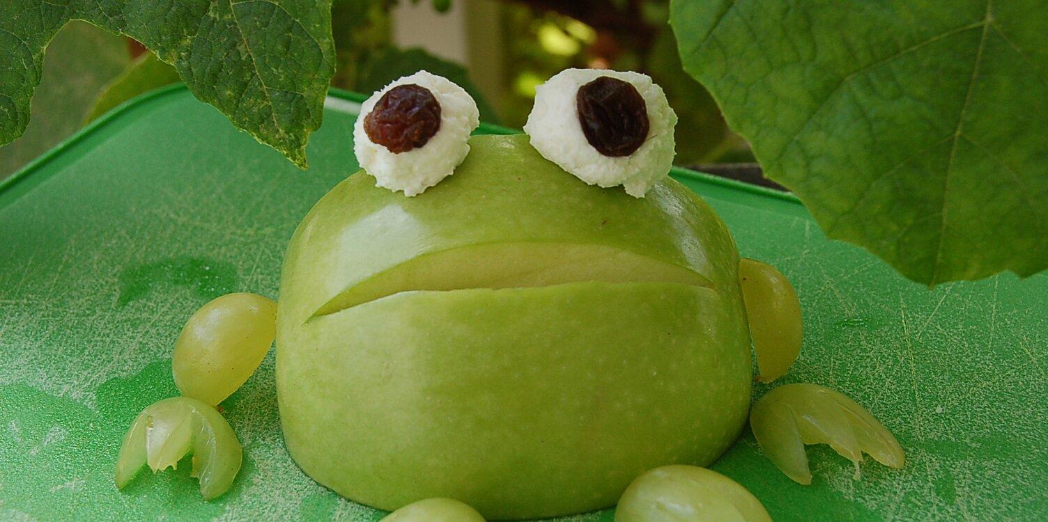 apple frog for kids recipe