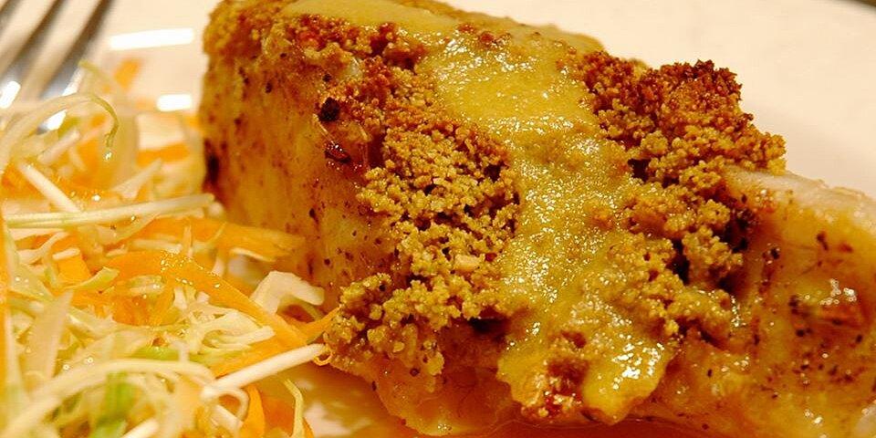 macadamia crusted sea bass with mango cream sauce recipe