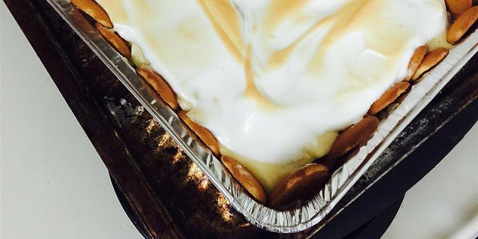 homemade banana pudding pie recipe