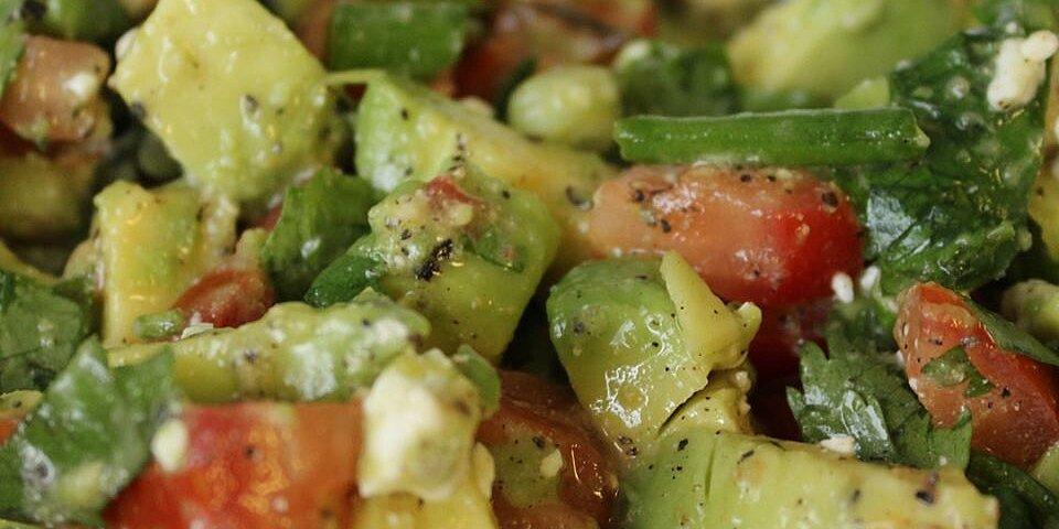 cilantro avocado tomato and feta salad recipe