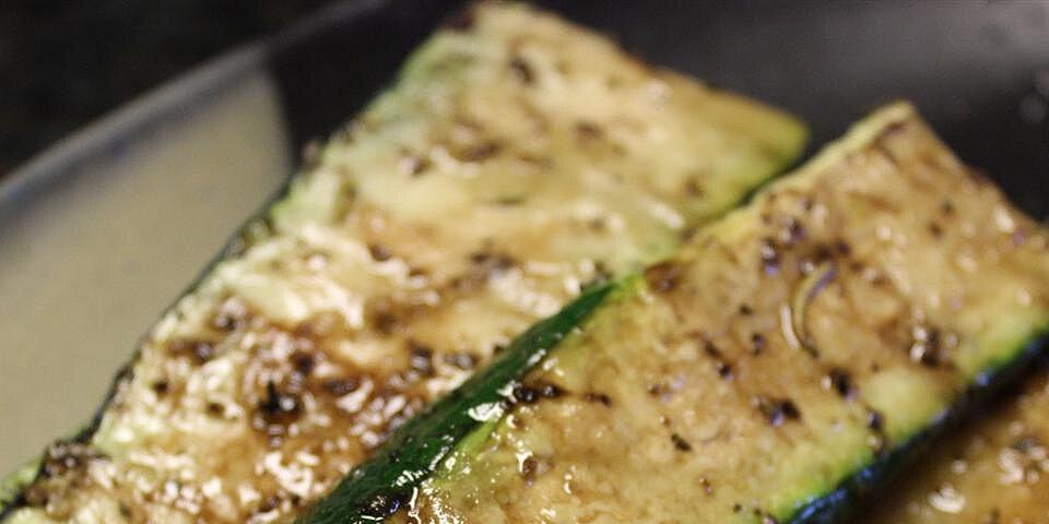 balsamic grilled zucchini recipe