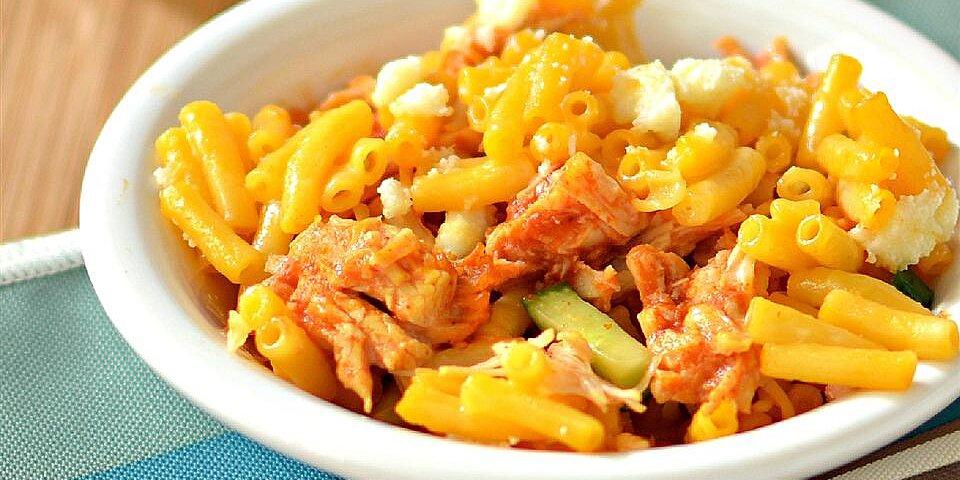 buffalo chicken macaroni and cheese recipe