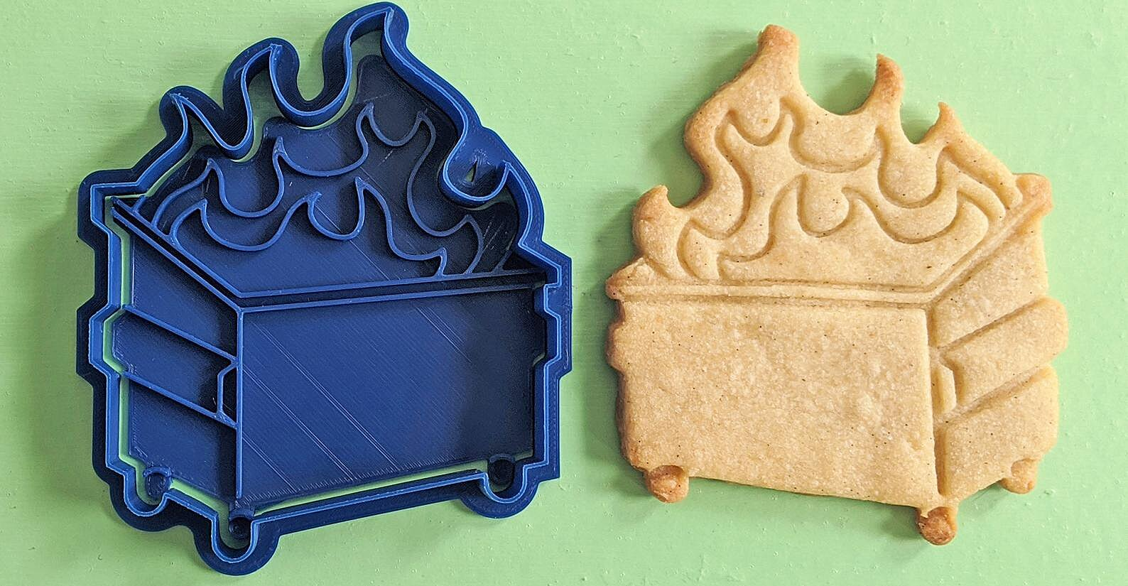 This Dumpster Fire Cookie Cutter Is the Perfect Way to Close Out 2020
