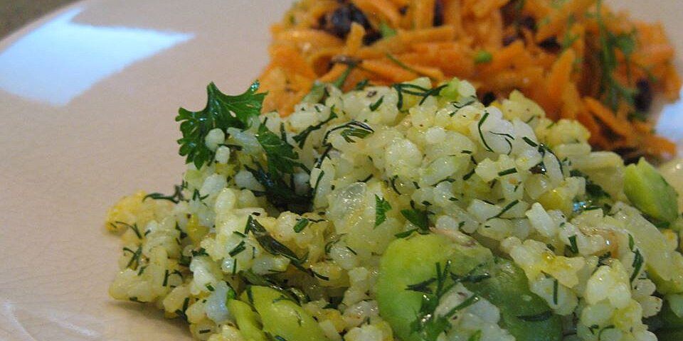 persian sabzi polo herb rice with fava beans recipe