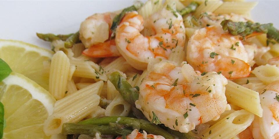elegant penne with asparagus and shrimp recipe
