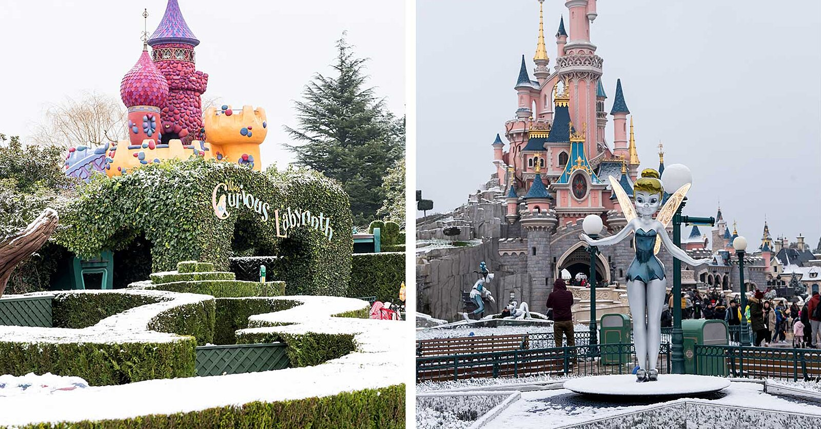 Disneyland Paris Is Covered In Snow And It Looks More Magical Than Ever Travel Leisure