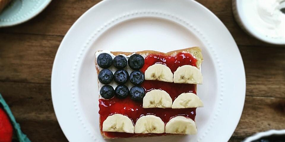red white and blue flag toast recipe