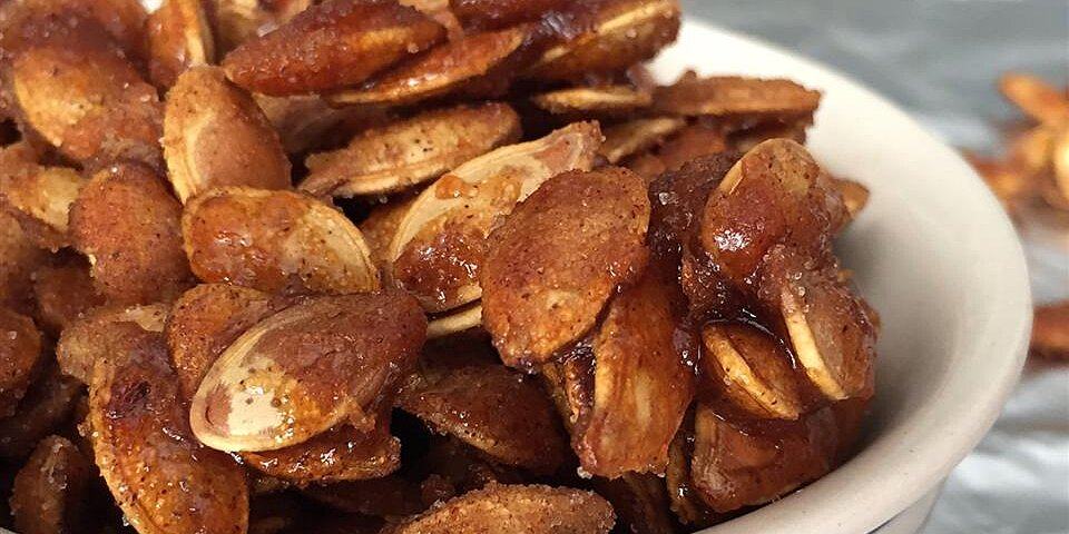 toasted pumpkin seeds with sugar and spice recipe