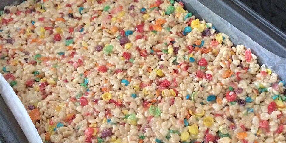 funfetti cake batter rice krispies treats recipe