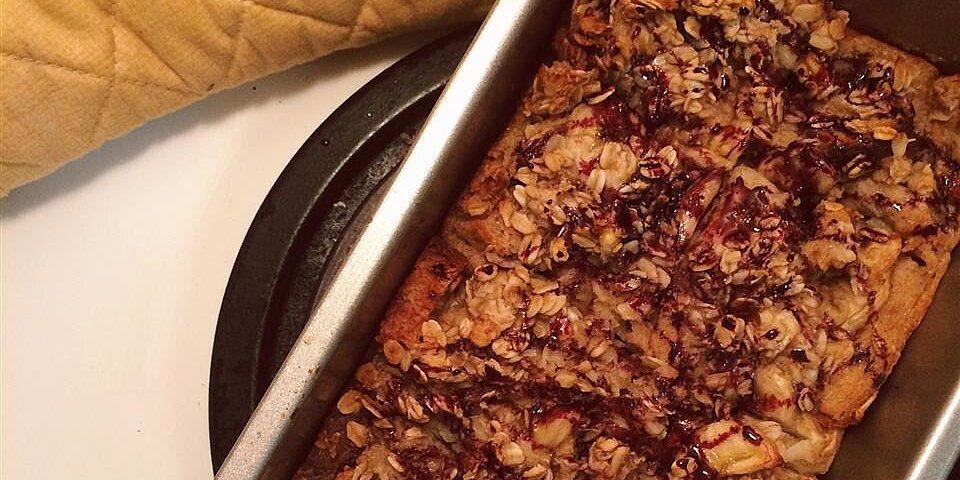 banana oat bread pudding recipe