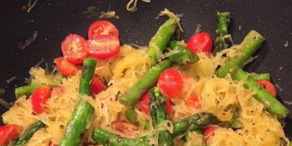 spaghetti squash with asparagus recipe