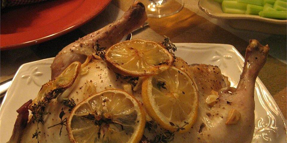 moist garlic roasted chicken recipe