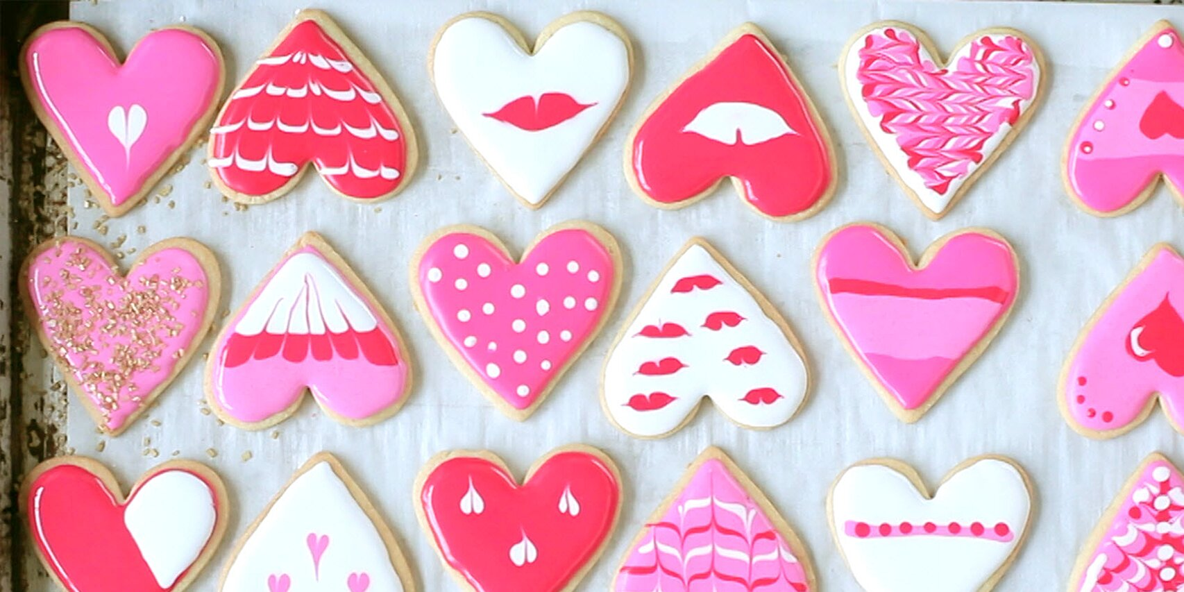 heart cookies decorated with royal icing recipe
