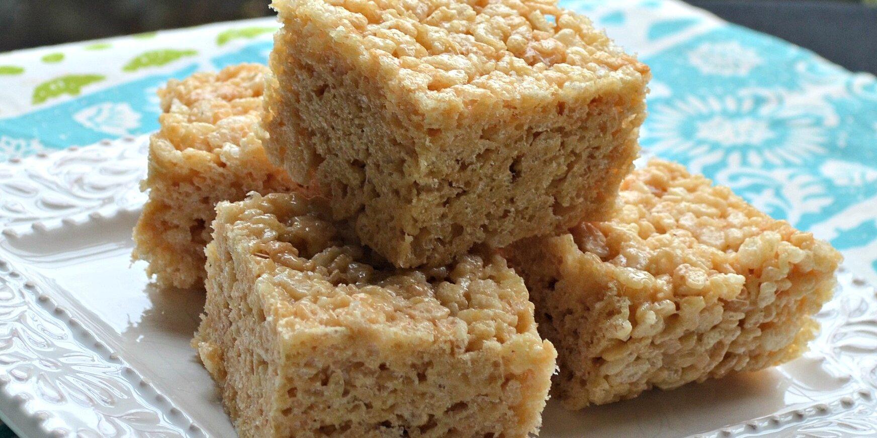 salted caramel marshmallow crispy treats gluten free recipe