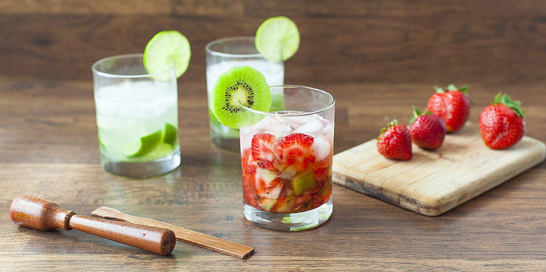 strawberry kiwi caipirinha recipe