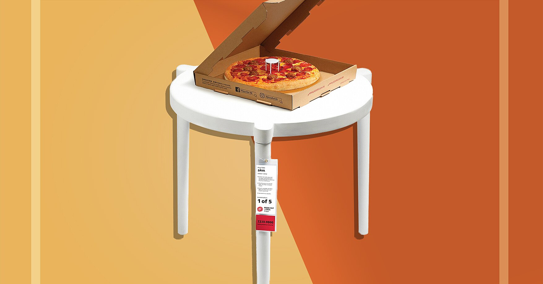 Ikea And Pizza Hut Created A Full Size Pizza Saver Table Food Wine