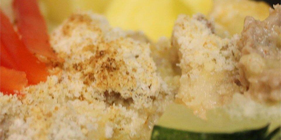 creamy meat stuffed zucchini recipe
