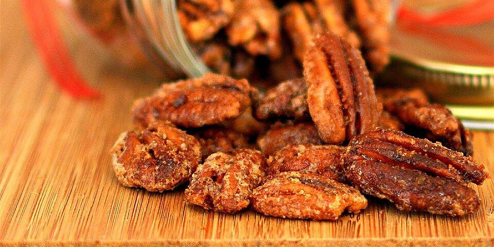glazed spicy cinnamon pecans recipe