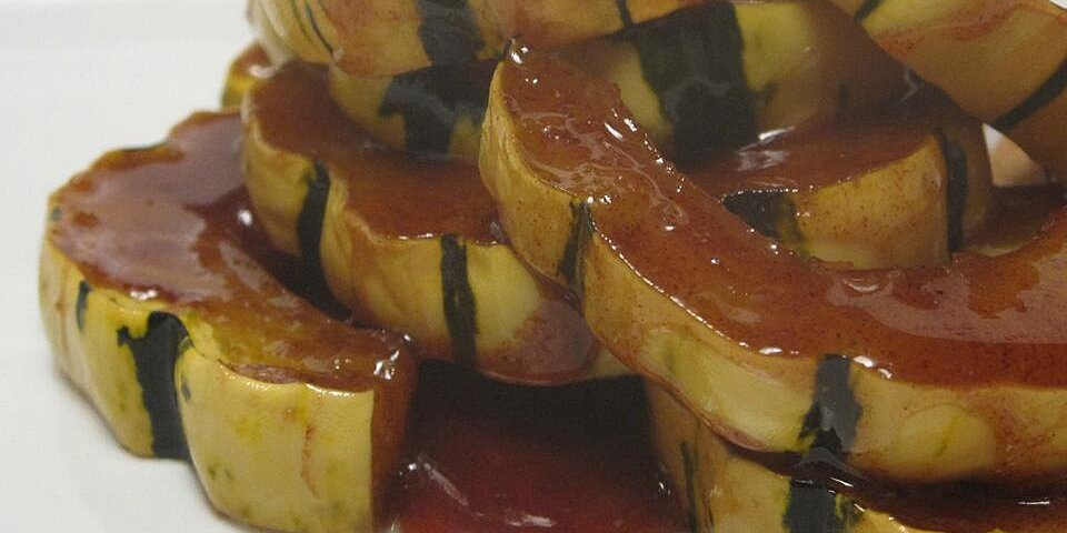 sweet baked delicata squash recipe