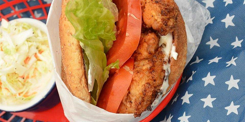 ez fried chicken sandwich recipe