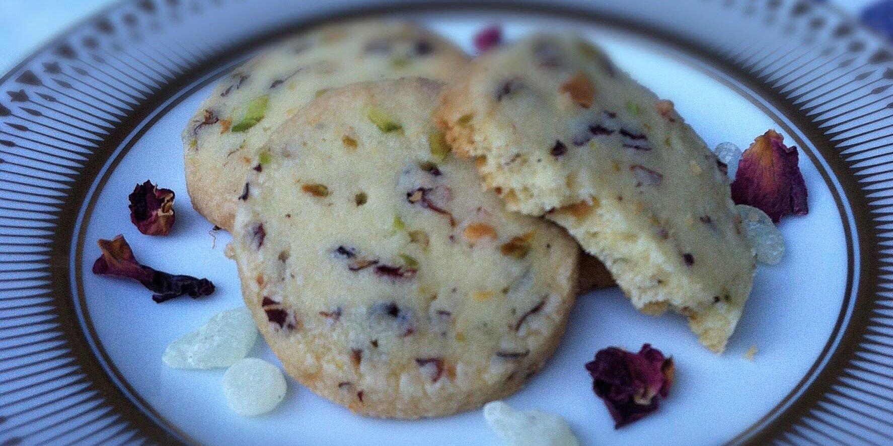 rose pistachio shortbread recipe