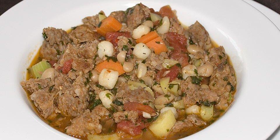 spicy sausage soup with cilantro recipe