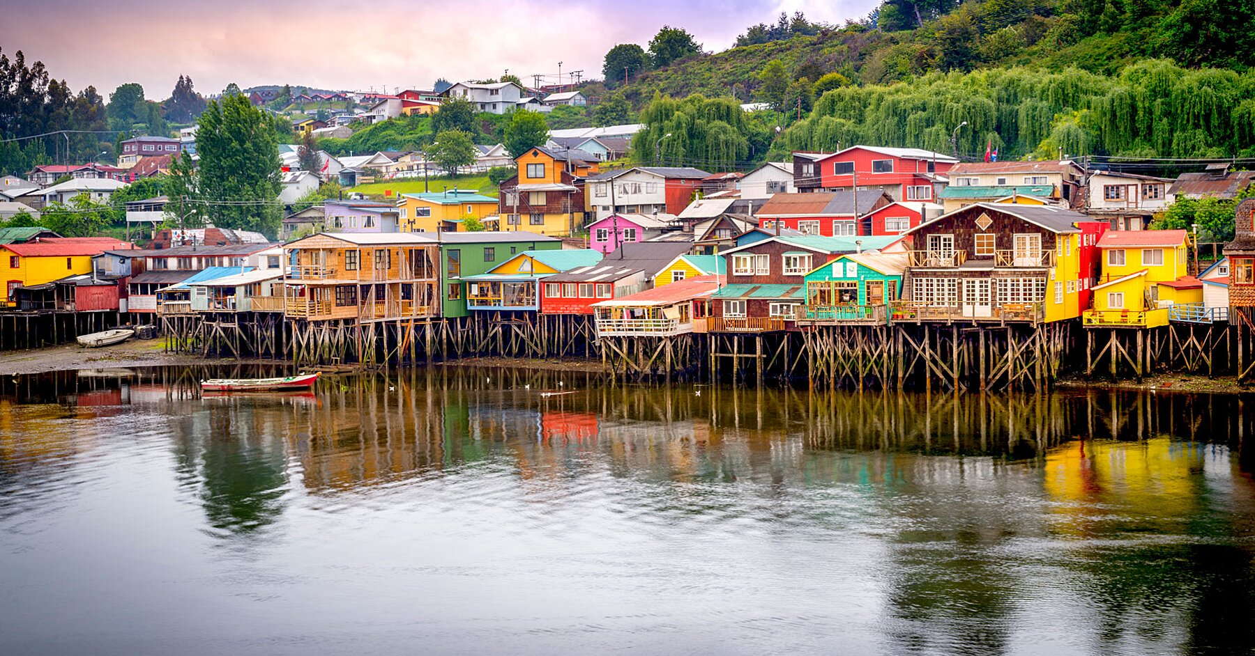 This Dreamy Chilean Island Is Home to Colorful Houses, Stunning Scenery, and the World's Smallest Deer