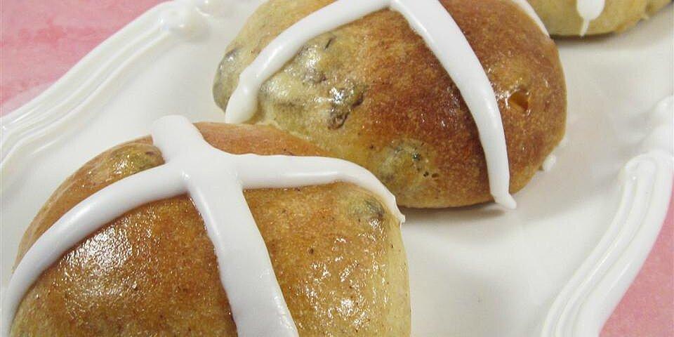 british hot cross buns recipe