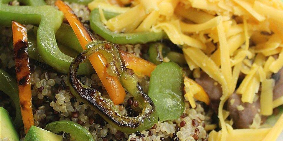 vegan quinoa and guac bowl recipe