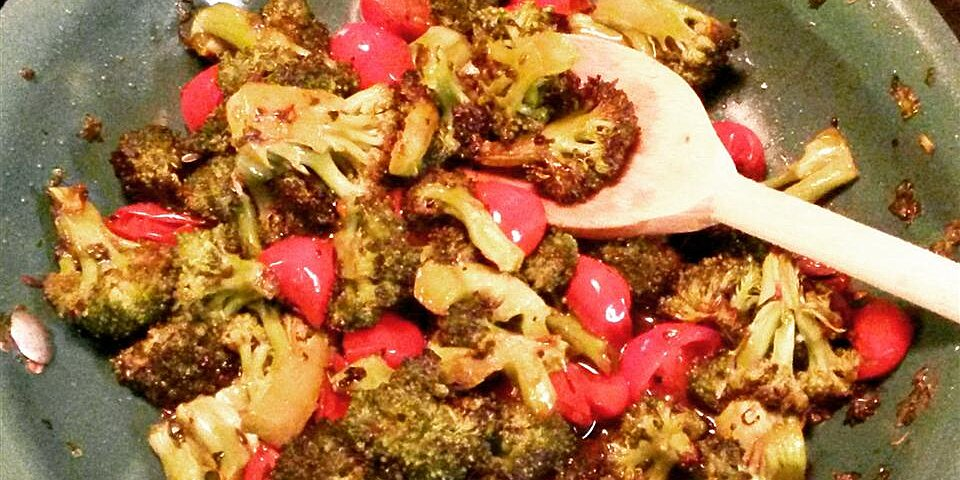 back to roasted broccoli in tangy tomato herb vinaigrette recipe