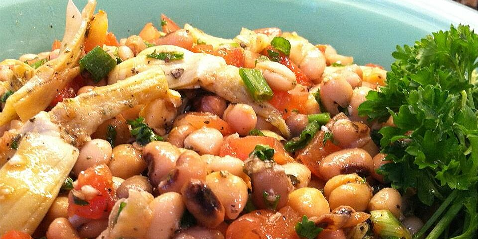 new year three bean and artichoke salad