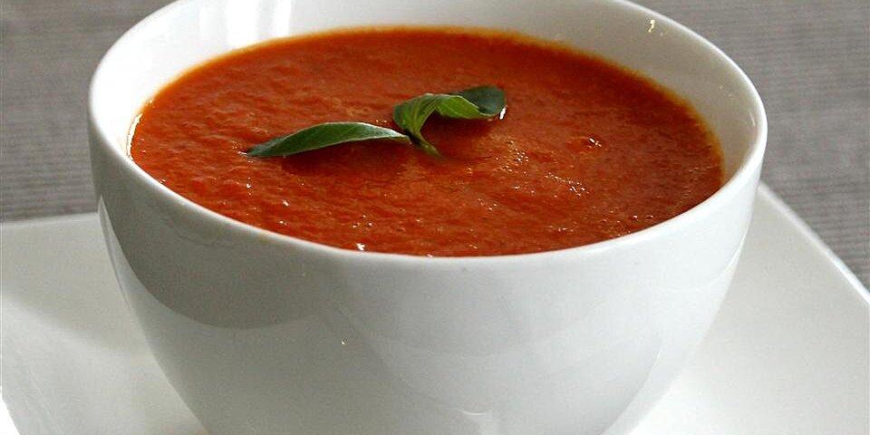 rainbow roasted pepper soup recipe