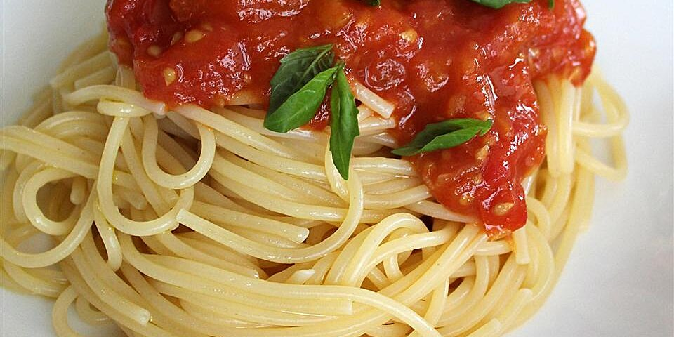 spaghetti sauce with fresh tomatoes recipe