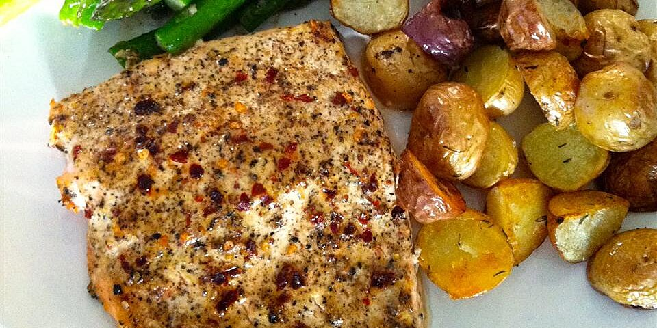 Chef John S Baked Lemon Pepper Salmon Allrecipes