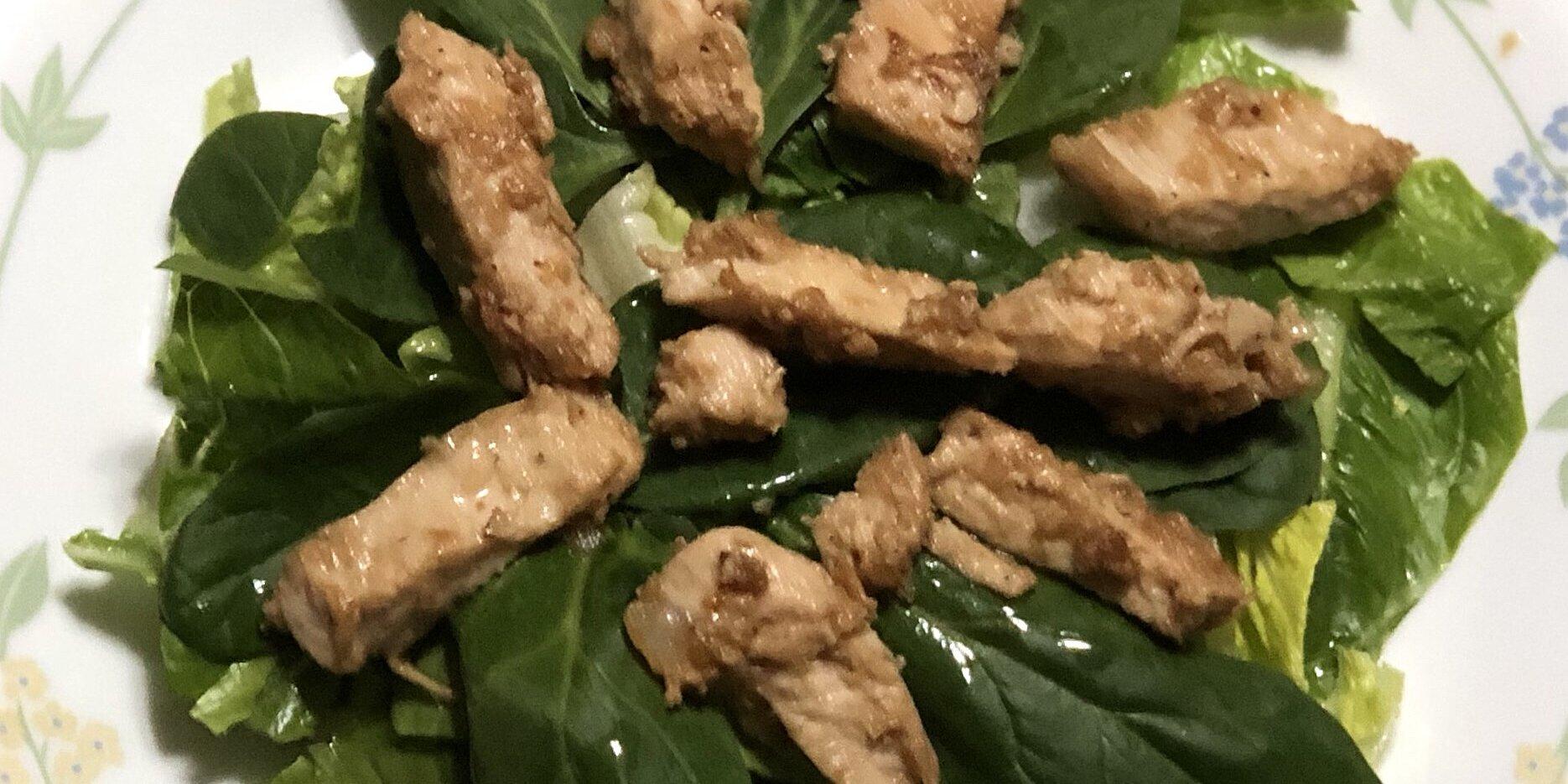 lime garlic chicken and spinach salad recipe