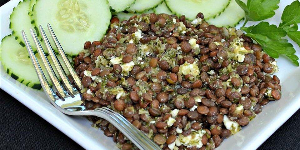 lentil salad with chimichurri sauce recipe