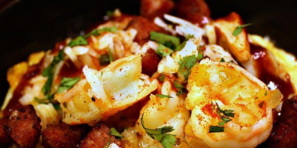 shrimp and grits with kielbasa recipe