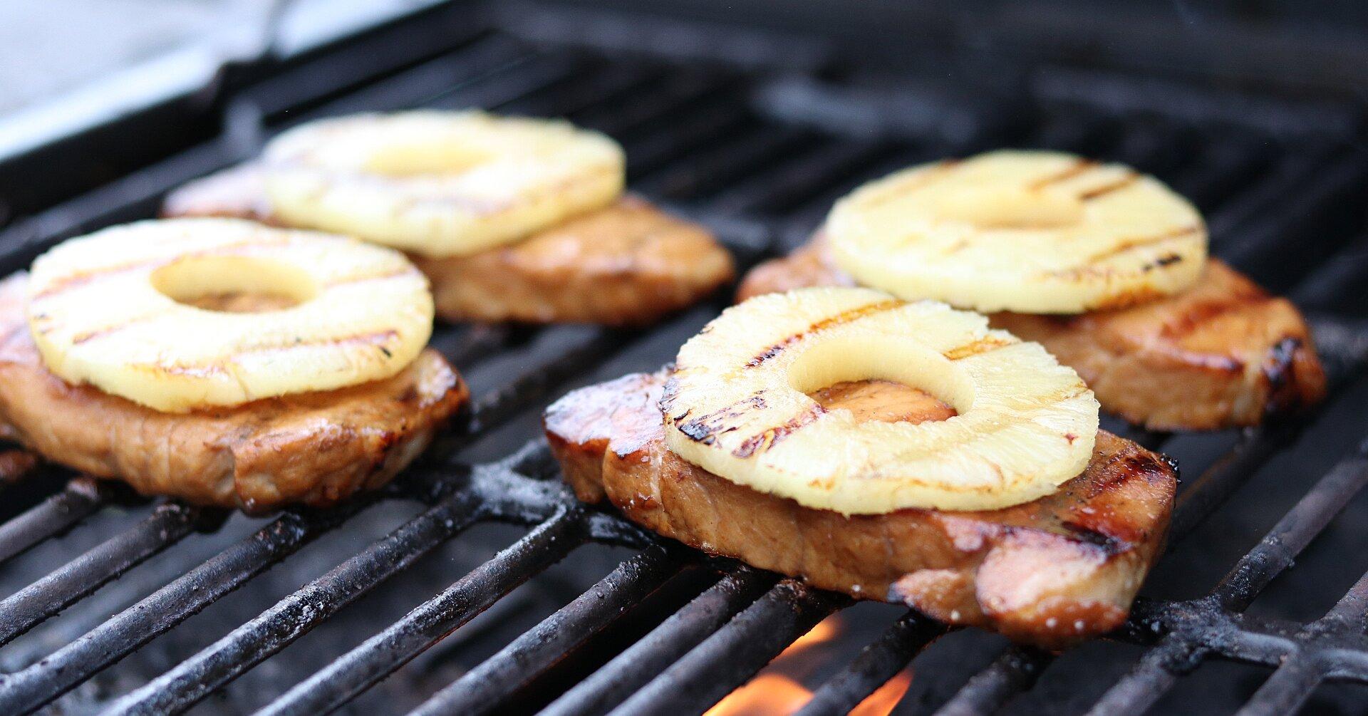 Pineapple Grilled Pork Chops Recipe Allrecipes Com Allrecipes
