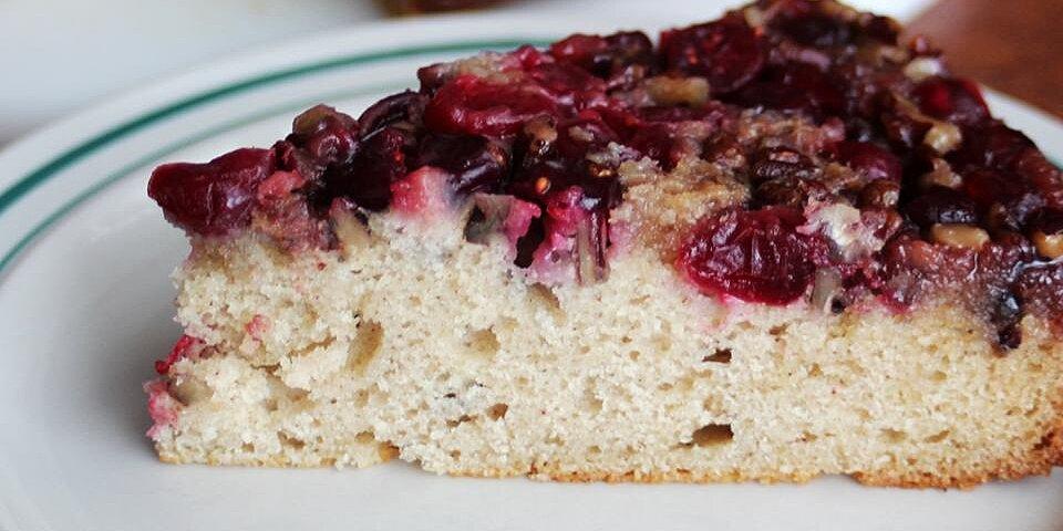 cranberry upside down coffee cake recipe