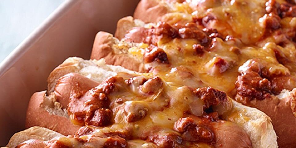 baked chili hot dogs recipe
