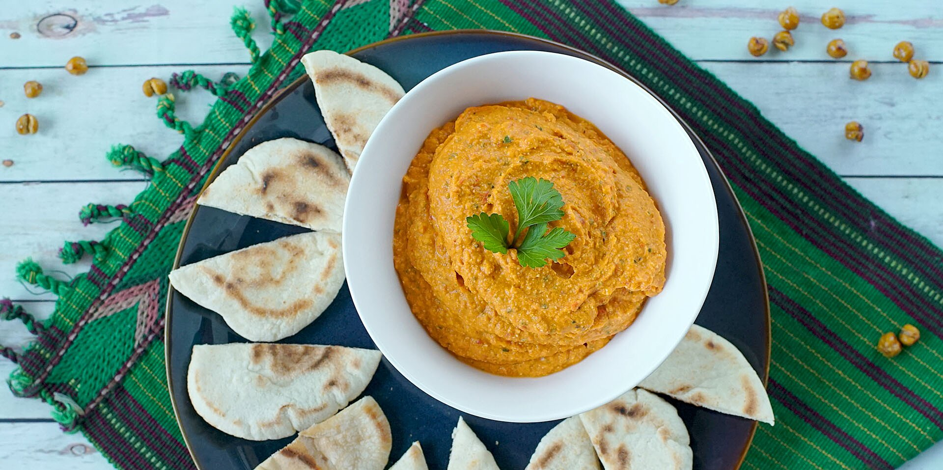 spicy roasted red pepper and feta hummus recipe