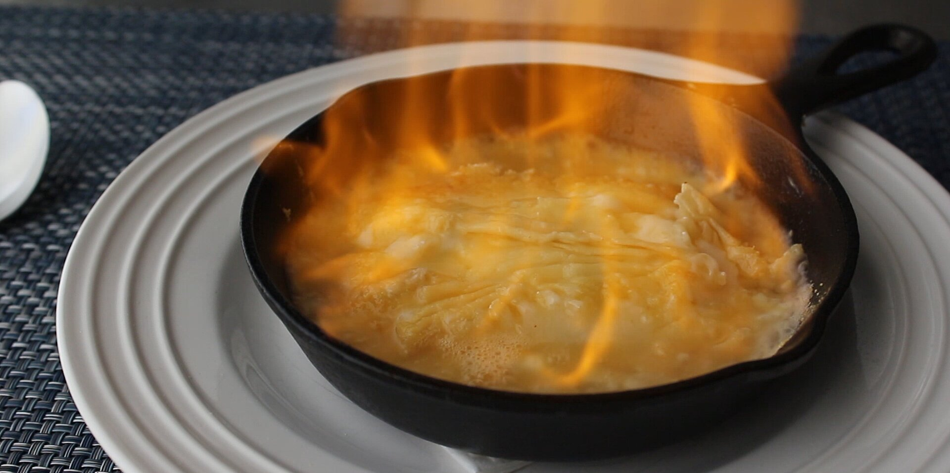 flaming greek cheese saganaki