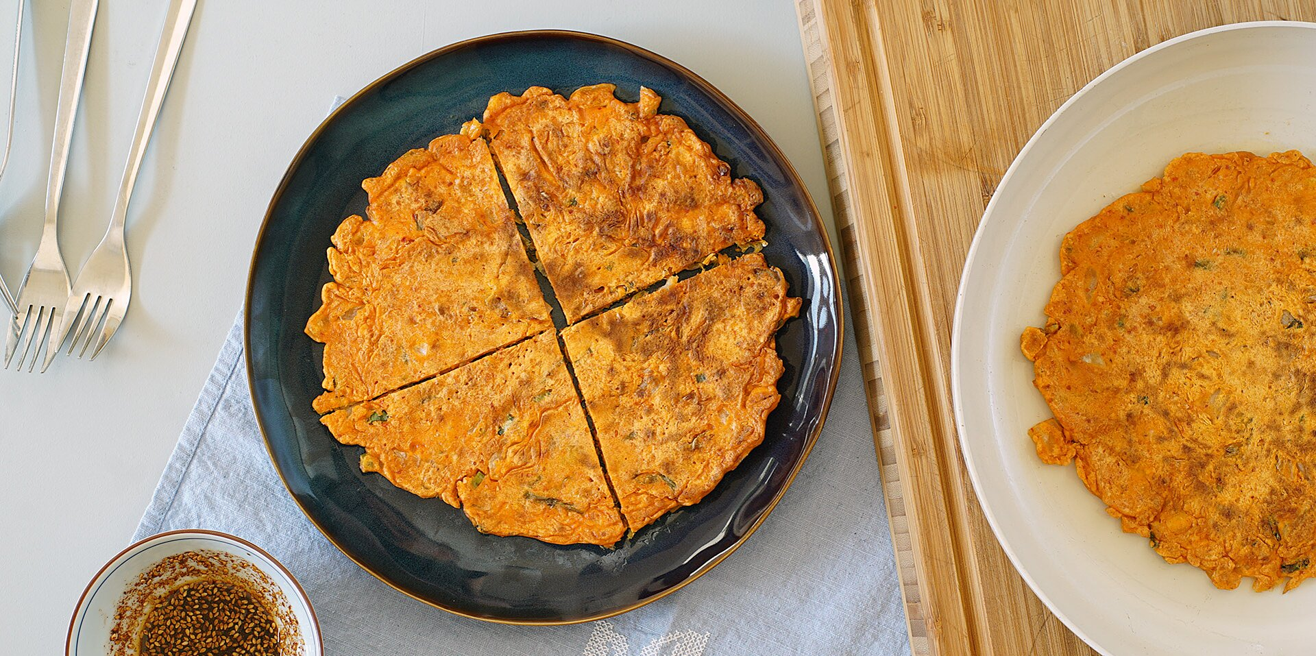 kimchi jun kimchi pancake and dipping sauce recipe