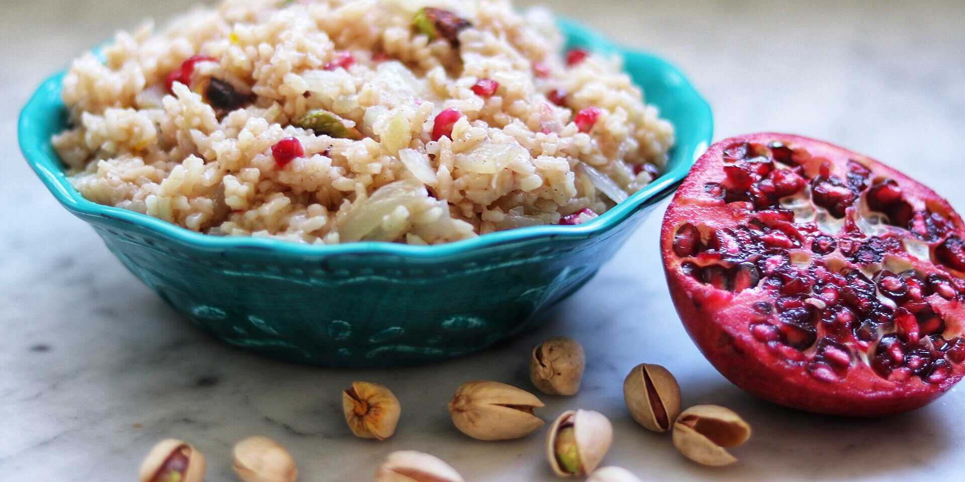 middle eastern rice pilaf with pomegranate recipe