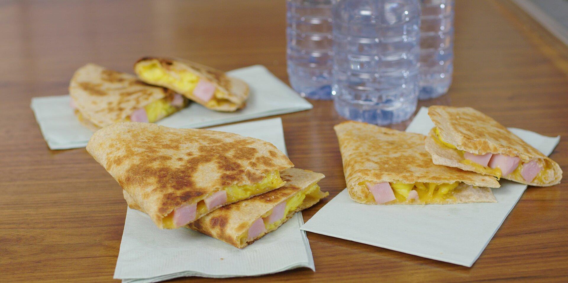 ham egg and cheese quesadillas
